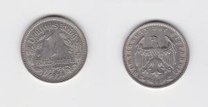 1 Mark Nickel Münze 3.Reich 1934 D, Jäger 354 (130907)