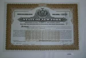 10000 Dollar Aktie State of New York 2. April 1948 (127880)