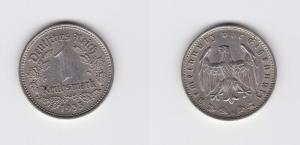 1 Mark Nickel Münze 3.Reich 1933 A, Jäger 354 (132876)