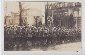 85173 Foto Ak Wilhelmshafen Reichswehr Militärparade um 1920
