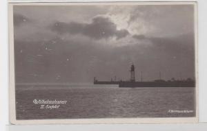 86252 Foto Ak Wilhelmshaven III.Einfahrt um 1920