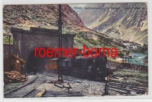 82485 Ak Gotthardbahn Dampflokomotive im großen Tunnel 1913