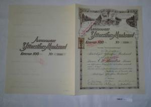 100 Kronor Aktie Aktiebolaget Ytterstfors-Munksund Stockholm 20.12.1916 (128127)