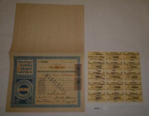 100 Kronor Aktie Aktiebolaget Svenska Kullager Fabriken Göteborg 1918 (128138)