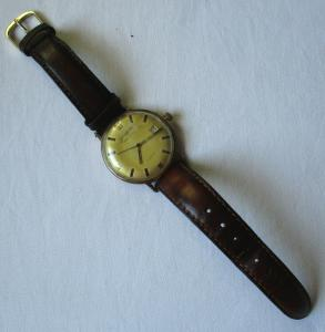 Seltene GUB Glashütte Armbanduhr Spezimatic 26 Rubis Gold Plaque (116956)