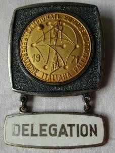 Abzeichen Federatione Italiana Pallavolo Italienischer Volleyballverband 1971