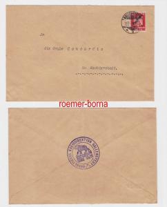 83229 Brief Grube Concordia in Nachterstedt mit 10 Pfennig Dienstmarke 1925
