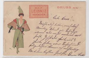 93628 Reklame Ak H.C.F. Leibniz Keks Hannover 1900
