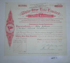 1 Pfund Aktie White Star Line Limited Liverpool 6. September 1928 (128137)