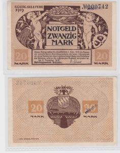 20 Mark Banknote Notgeld Distriktsgemeinde Wolfstein 8.November 1918 (120112)