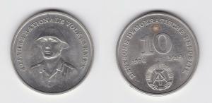 DDR Gedenk Münze 10 Mark 20 Jahre Nationale Volksarmee NVA 1976 Stgl. (122580)