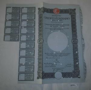 1200 Lire Aktie Istituto di Credito Fondiario dell Istria Pola 1934 (127772)