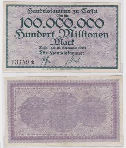 100 Millionen Mark Banknote Cassel die Handelskammer 21.9.1923 (121130)