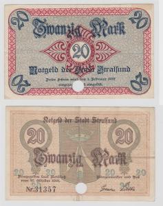 20 Mark Banknote Notgeld Stadt Stralsund 21.Oktober 1918 (121781)