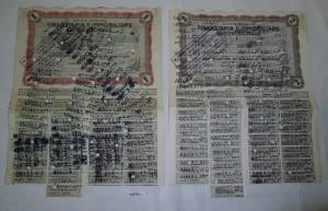 2x Aktie Finanziaria E Immobiliare Settentrionale Brescia 1960 (127774)