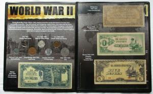 World War II Historic World Collection mit Münzen, Banknoten, Briefm.  (135007)