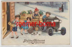 80317 Ak Herzlichen Glückwunsch zum Geburtstage. Kinder mit Traktor 1937