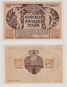 20 Mark Mark Banknote Kriegsnotgeld Gemeinde Lauterecken 1918 (126620)
