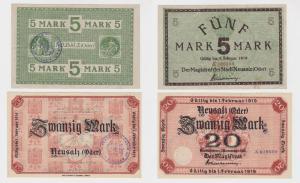 5 & 20 Mark Banknote Notgeld Stadt Neusalz (Oder) 1918 (122466)