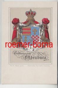 73887 Ak mit Wappen Großherzogtum Oldenburg No. 13 Kunstverl. Paul Kohl um 1900