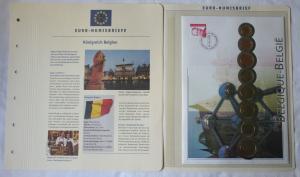 Euro Numisbrief Kursmünzensatz Belgien 1999-2001 1 Cent - 2 Euro (126037)