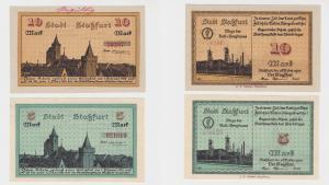 5 und 10 Mark Banknoten Notgeld Stadt Staßfurt 1.10.1918 (122829)