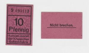 10 Pfennig Banknote Konsum Anstalt der Kruppschen Gußstahlfabrik (119780)