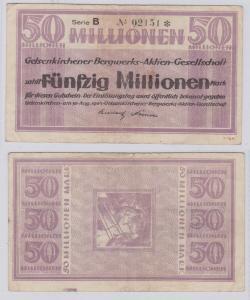 50 Millionen Mark Banknote Gelsenkirchner Bergwerks AG 30.8.1923 (126479)