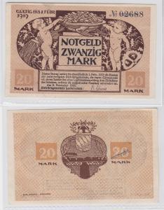 20 Mark Mark Banknote Kriegsnotgeld Gemeinde Lauterecken 1918 (119866)