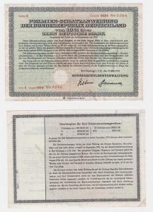 Prämienschatzanweisung der BRD 1951 über 10 Deutsche Mark Bad Homburg (121968)