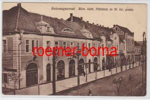 83339 Ak Balassagyarmat Ungarn Röm.kath.Plébánia és M.kir.posta um 1910