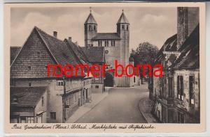 76079 Foto Ak Bad Gandersheim (Harz) Solbad. Marktplatz mit Stiftskirche 1941