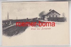 16049 Ak Gruss aus Sandstedt Weser Hof um 1900