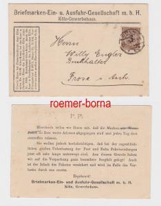 82133 Reklame Ak Briefmarken Handel Köln Gewerbehaus 1924