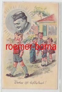 80150 Künstler Ak Heiteres der Front - der Heimat: Vater ist befördert! um 1940