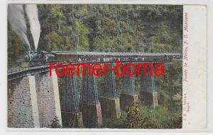 82373 Ak Mexiko Dampflokomotive auf Brücke Puente de Metlac um 1910