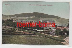 83013 Ak Goslar Steinberg mit Kaiserhaus u. Kasernen 1908