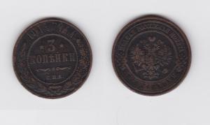 3 Kopeken Kupfer Münze Russland 1914 (119645)