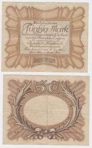 50 Mark Banknote Deutsches Reich 30.11.1918 Eierschein Rosenberg 57 (120318)