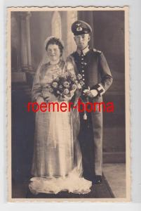 83127 Hochzeitsfoto Ak Feldwebel des Heer Leipzig Lindenau um 1940