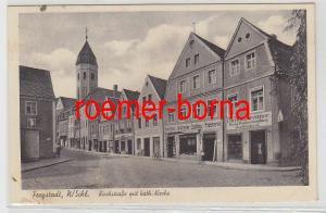 23894 Ak Freystadt Niederschlesien Kirchstraße mit Geschäften 1943