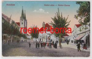 82981 Feldpost Ak Komarom Ungarn Nádor Gasse 1918