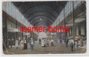 82370 Feldpost Ak Breslau Hauptbahnhof Verkehrshalle 1918