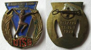 DDR Abzeichen DTSB III.Deutsches Turn- und Sportfest Leipzig 1959 (134947)
