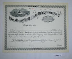 Blanko Stück Aktie The Albany Rail Road Bridge Company (127866)