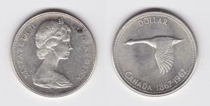 1 Dollar Silber Münze Kanada Wildgans 1967 (119708)