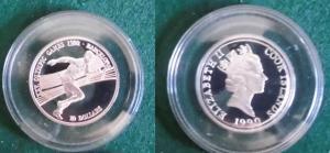 10 Dollar Silbermünze Cook Inseln 1990 Olympia Barcelona 1992 Läufer (125745)