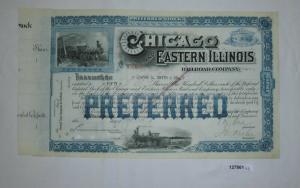 50 Stück Aktie Chicago and Eastern Illinois Railroad Company Juli 1919 (127861)