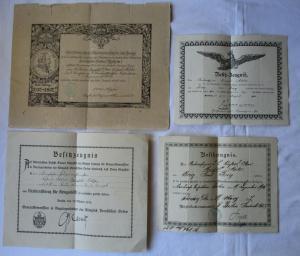 Seltener Urkundennachlaß 1.Weltkrieg Landwehr Dienstauszeichnung (125807)