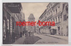 13834 Ak Konitz Wpr. Schlochauer Strasse mit Geschäften um 1920